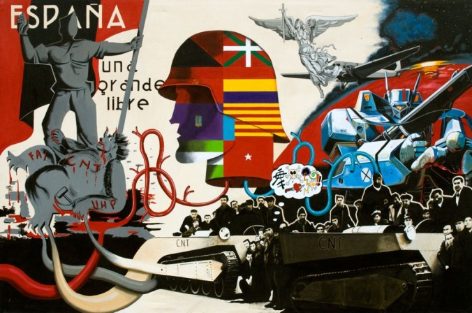 Spanish-Civil-War-Oscar-Seco-espana-dividida-200x300-cm-acrilic-on-canvas-2007 (oscarseco.com)