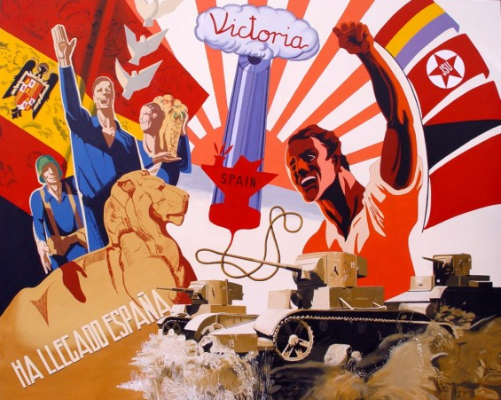 Spanish-Civil-War-Oscar-Seco-victoria-total-200x250-cm-acrilic-on-canvas-2006 (oscarseco.com)